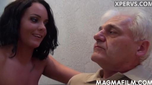 Sugar daddy and horny young girl