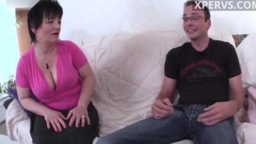 German mom and her son