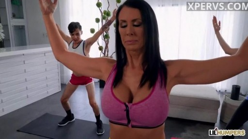Milf loves yoga and young cocks