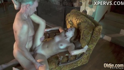 Young redhead girl loves old cock